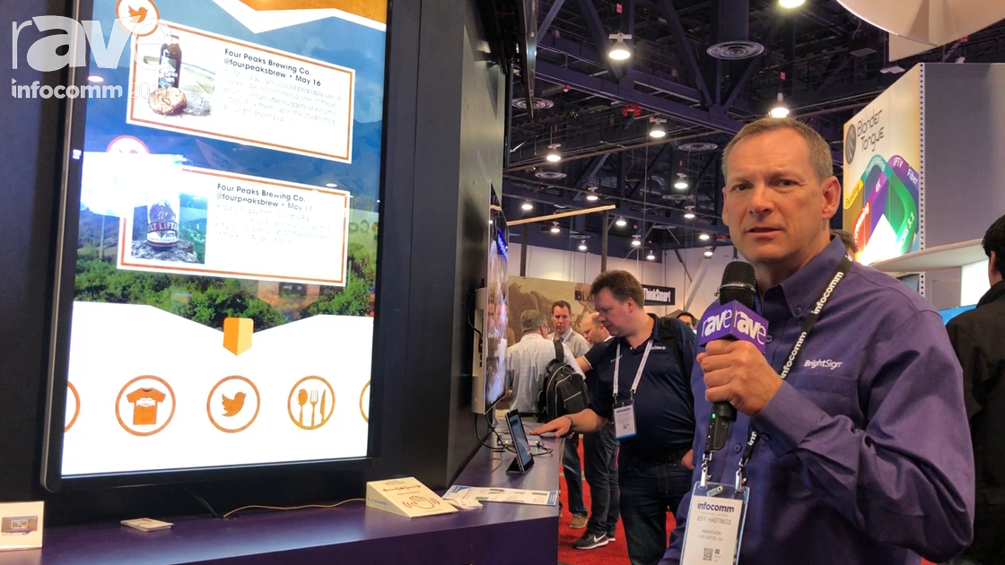 InfoComm 2018: BrightSign Features XT4 Player With Interactive Touch and 4K Graphics