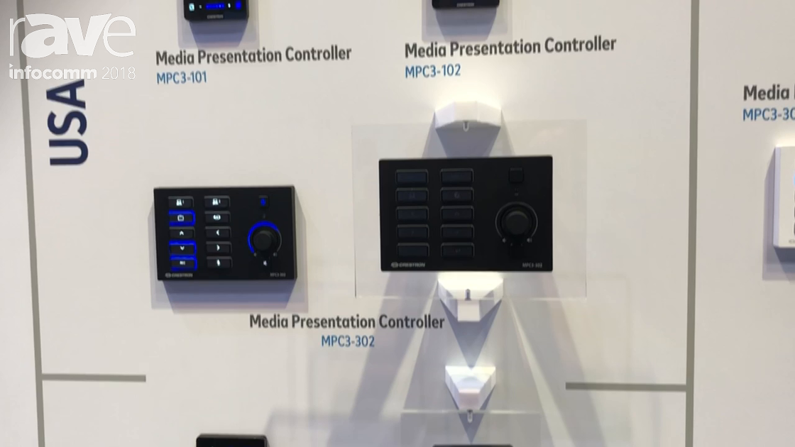 InfoComm 2018: Crestron Unveils the MPC3 3-Series Wall Mount Controllers