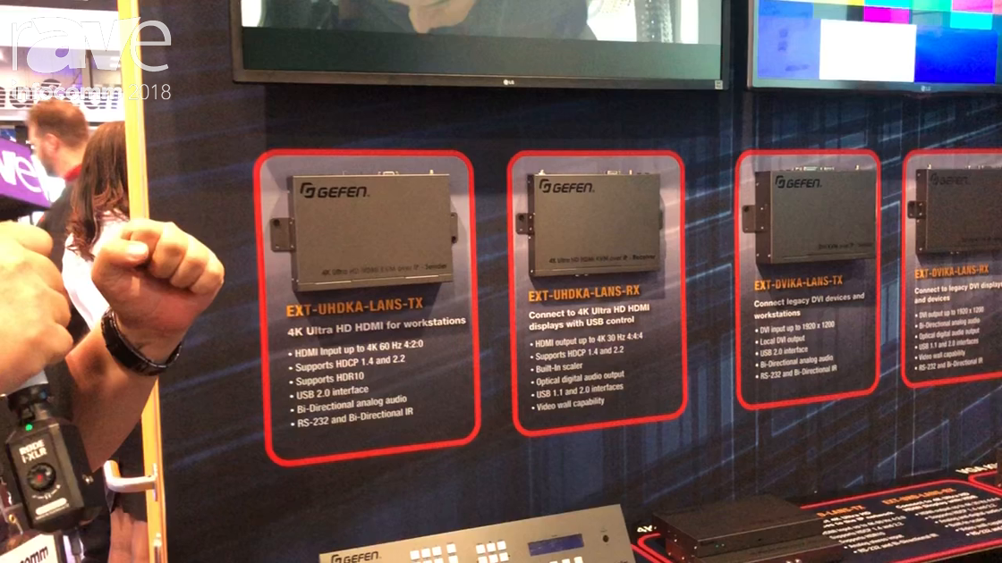InfoComm 2018: Gefen Talks About Its Range of 4K Video Over IP Products