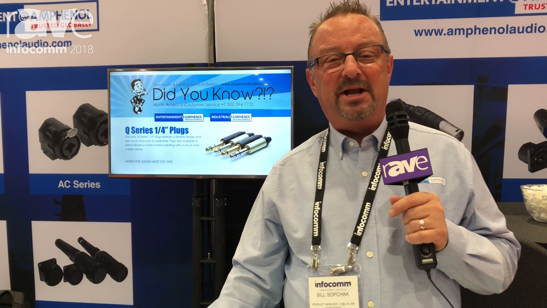 InfoComm 2018: Amphenol Sine Systems Exhibits Its Q-Series AC Series Data Connectors