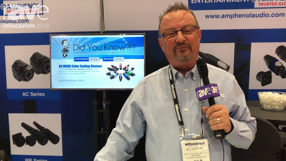 InfoComm 2018: Amphenol Sine Systems Shows the AX Series XLRs with AX MARK Color-Coding Sleeves