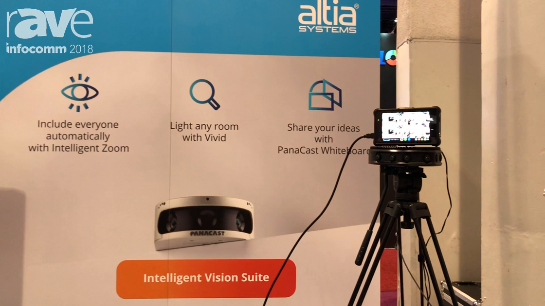 InfoComm 2018: Altia Systems Unveils the Panacast Live 180-Degree 3D 4K 60fps Broadcast Camera