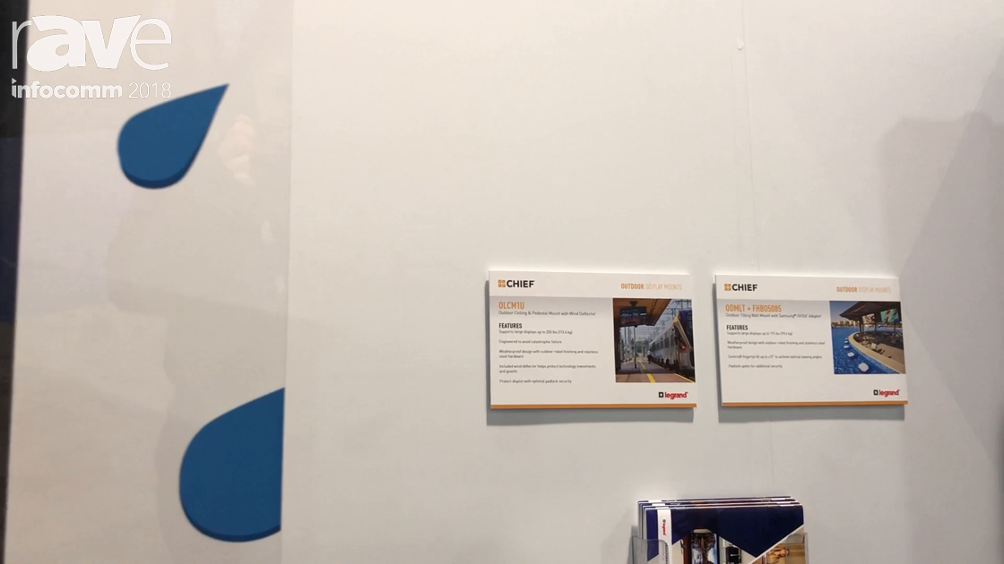InfoComm 2018: Chief Highlights Its OLCM1U Outdoor Ceiling & Pedestal Mount with Wind Deflector