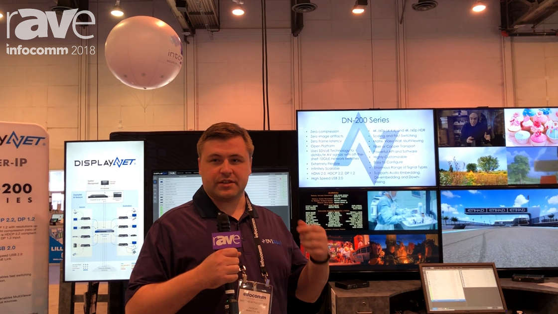 InfoComm 2018: DVIGEAR Talks About SDVoE Based DisplayNet AV-Over-IP for Routing Raw HDMI Signals