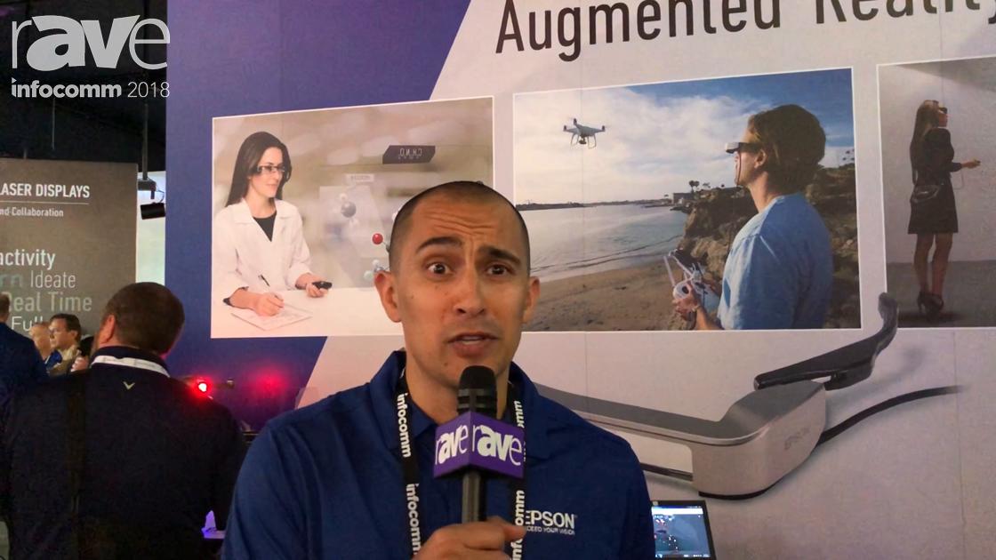 InfoComm 2018: Epson Demos the Moverio Augmented Reality Smart Glasses