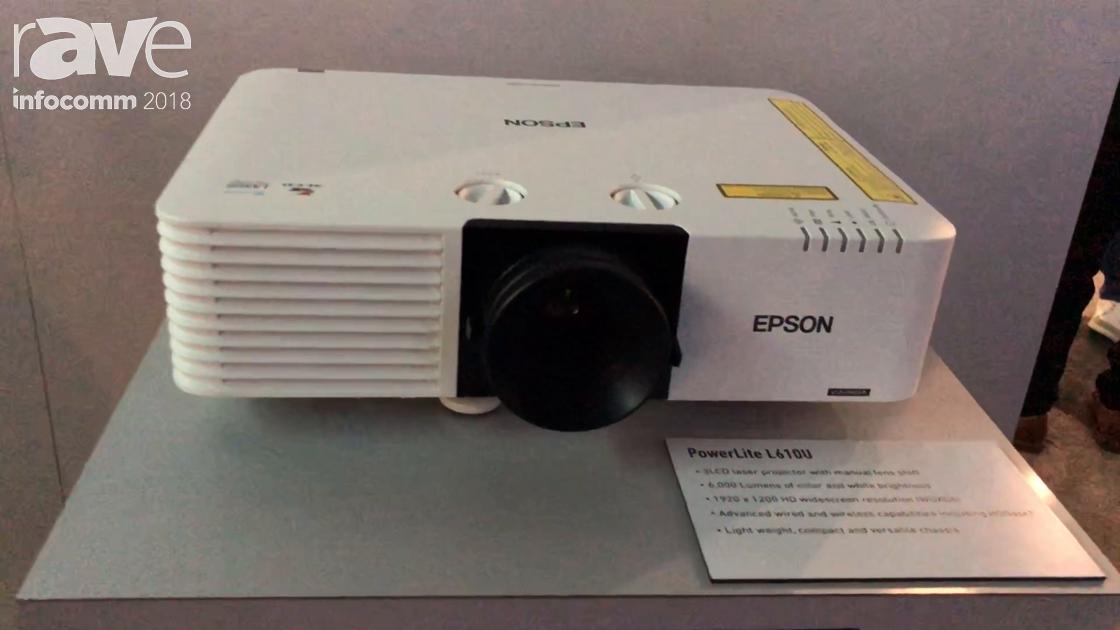 InfoComm 2018: Epson Intros the 6000-Lumen Compact L610U PowerLite L Series Laser Projector