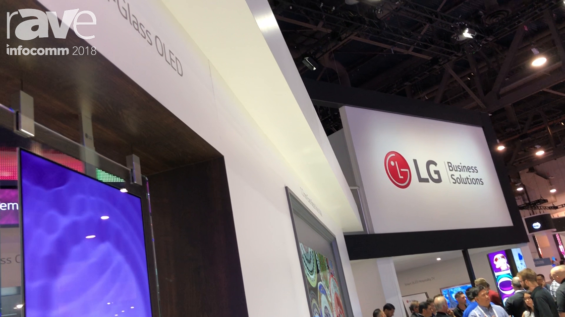 InfoComm 2018: LG Features Its Dual Sided In-Glass OLED Wallpaper Display