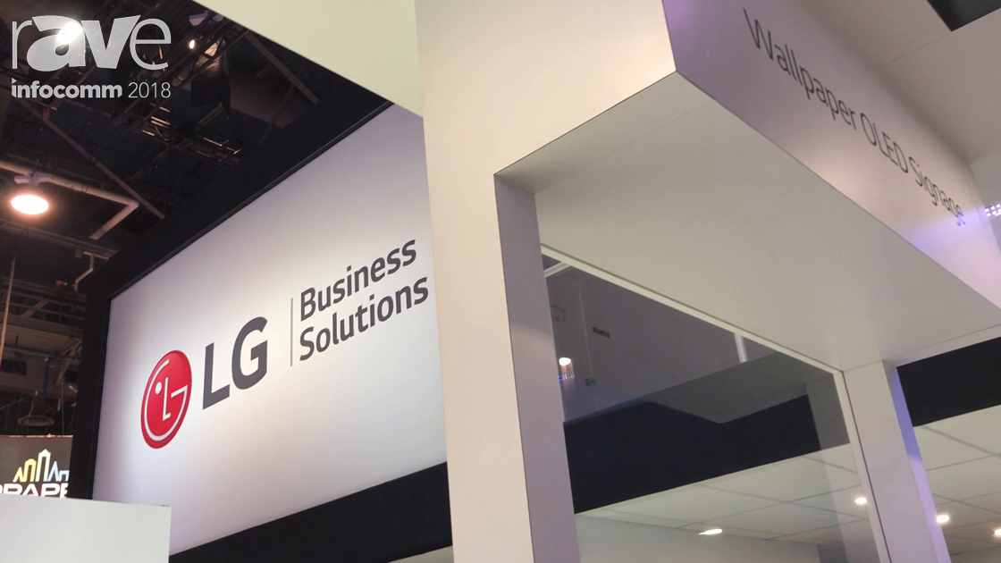InfoComm 2018: LG Features Its Wallpaper OLED Signage in 55″ and 65″ Models