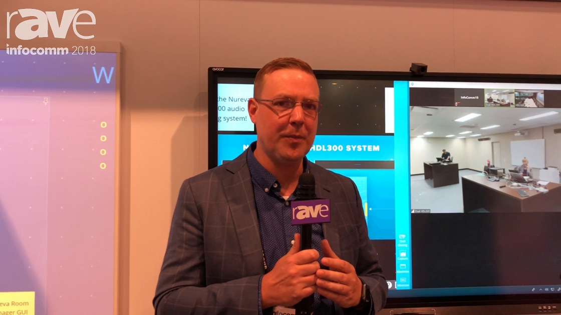 InfoComm 2018: Nureva Demos Its HDL300 Audio Conferencing System Dual HDL300 System