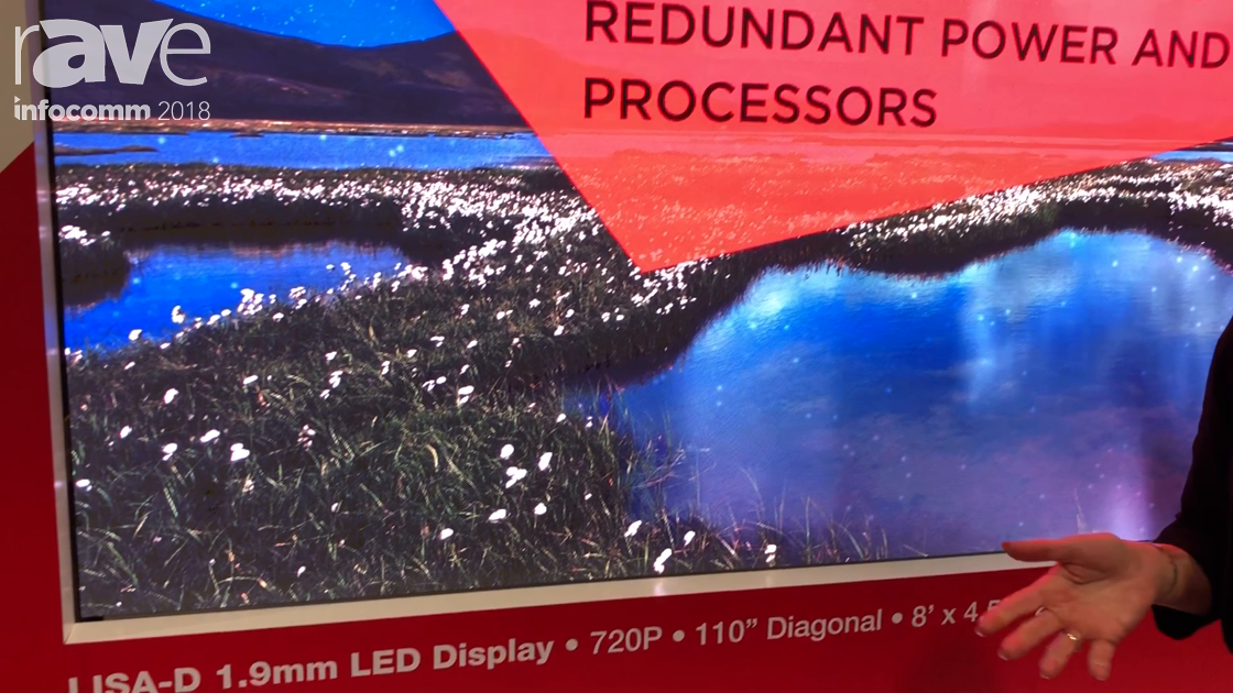 InfoComm 2018: SiliconCore Technology Features Its Durable LISA-D 1.9mm LED Display