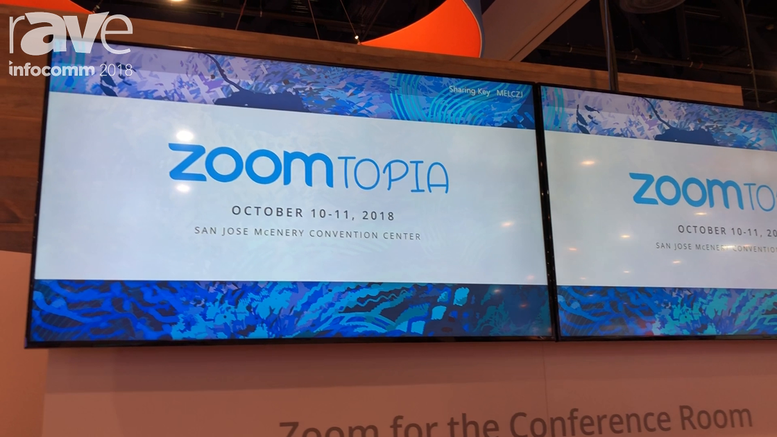InfoComm 2018: Zoom Features Zoom Rooms Digital Signage