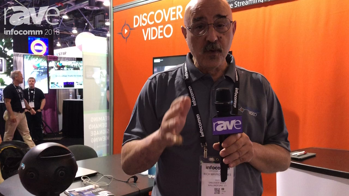 InfoComm 2018: Discover Video Presents 360 Camera With Live Streaming Functionality