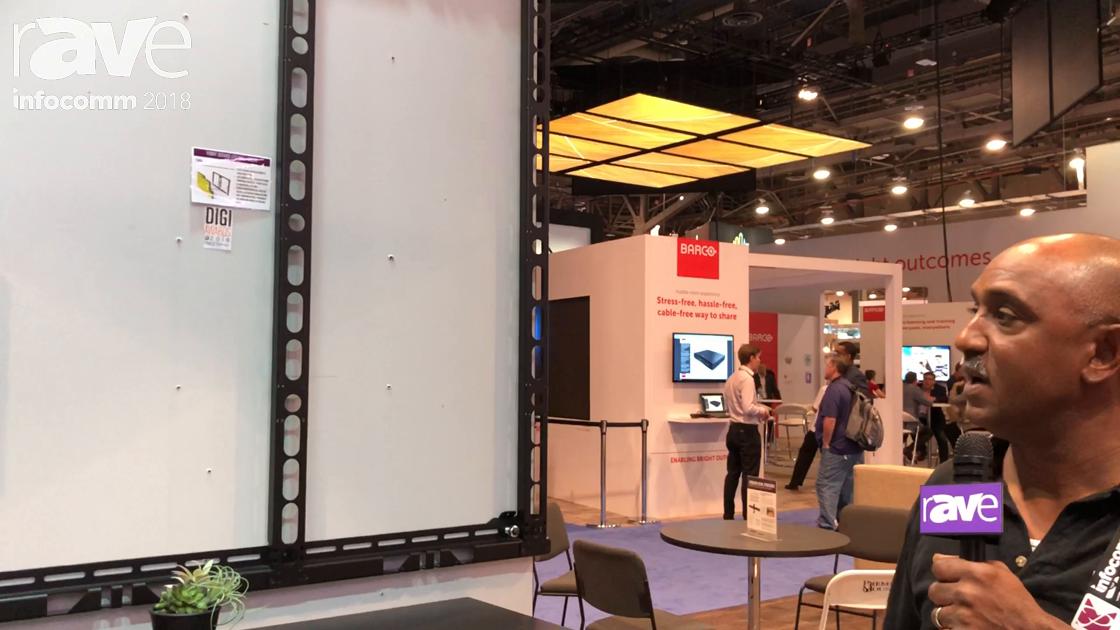 InfoComm 2018: Premier Mounts Exhibits FWM Front Service LED Wall Mount