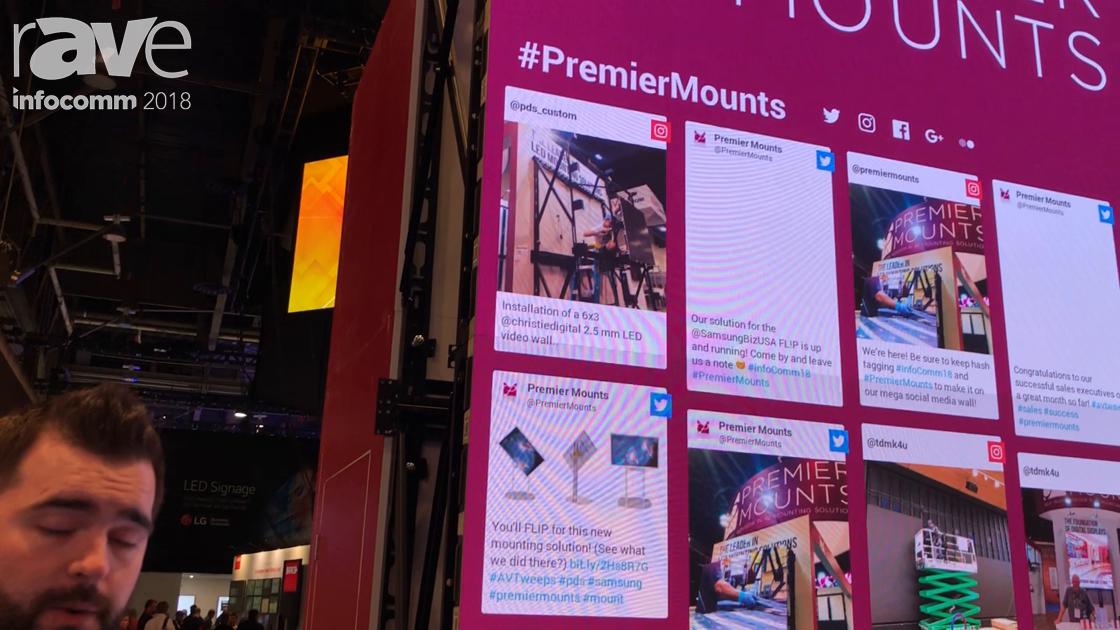 InfoComm 2018: Premier Mounts Showcases Its FXSA Scissor Mount Video Wall