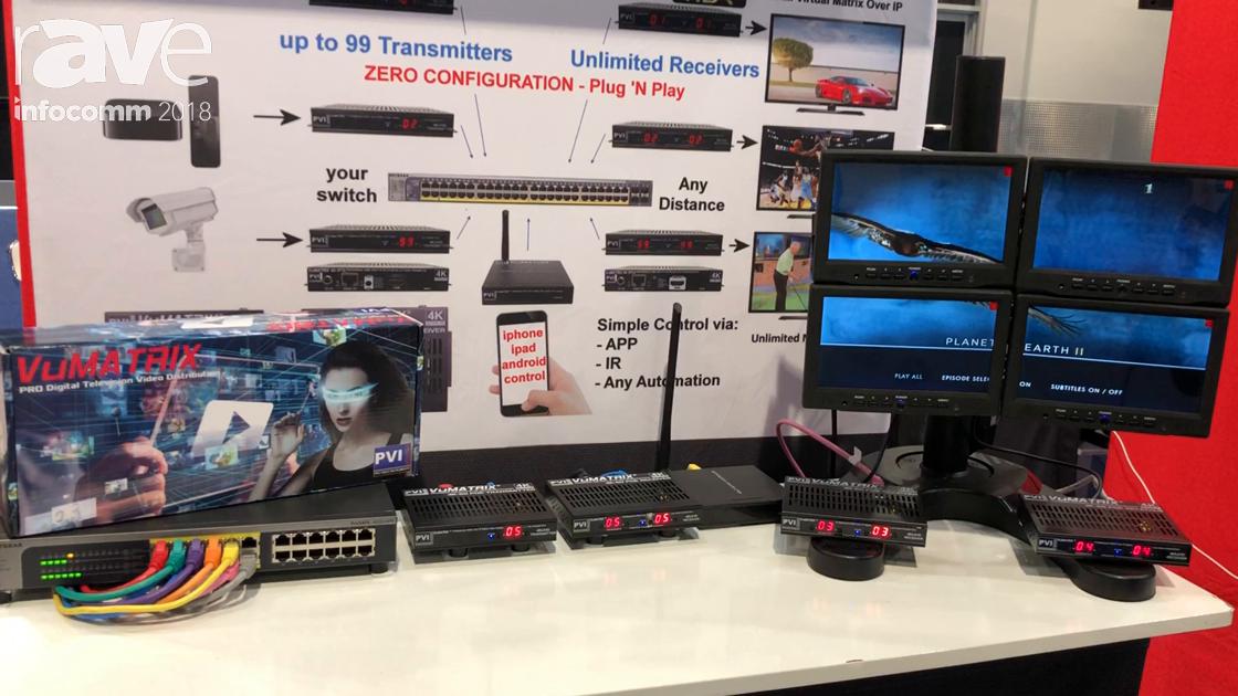 InfoComm 2018: Pro Video Instruments Showcases VuMATRIX HDMI Over IP Video Solution