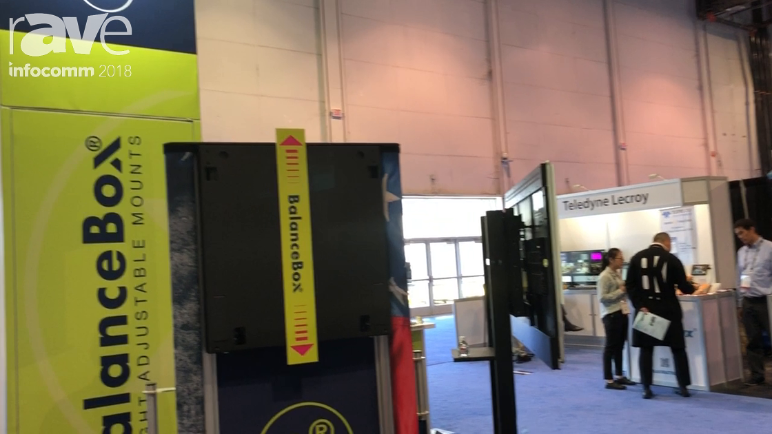 InfoComm 2018: BalanceBox Talks About X-Line Mobile Stand Mounting Solution