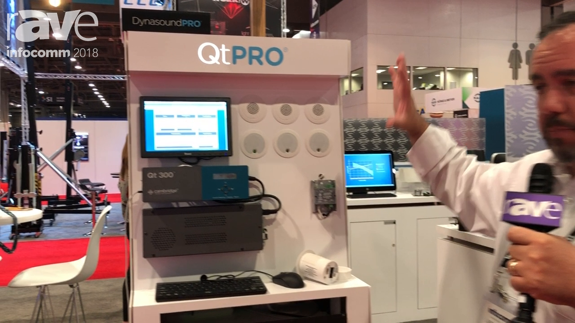 InfoComm 2018: Cambridge Sound Management Discusses QtPRO Sound Masking System
