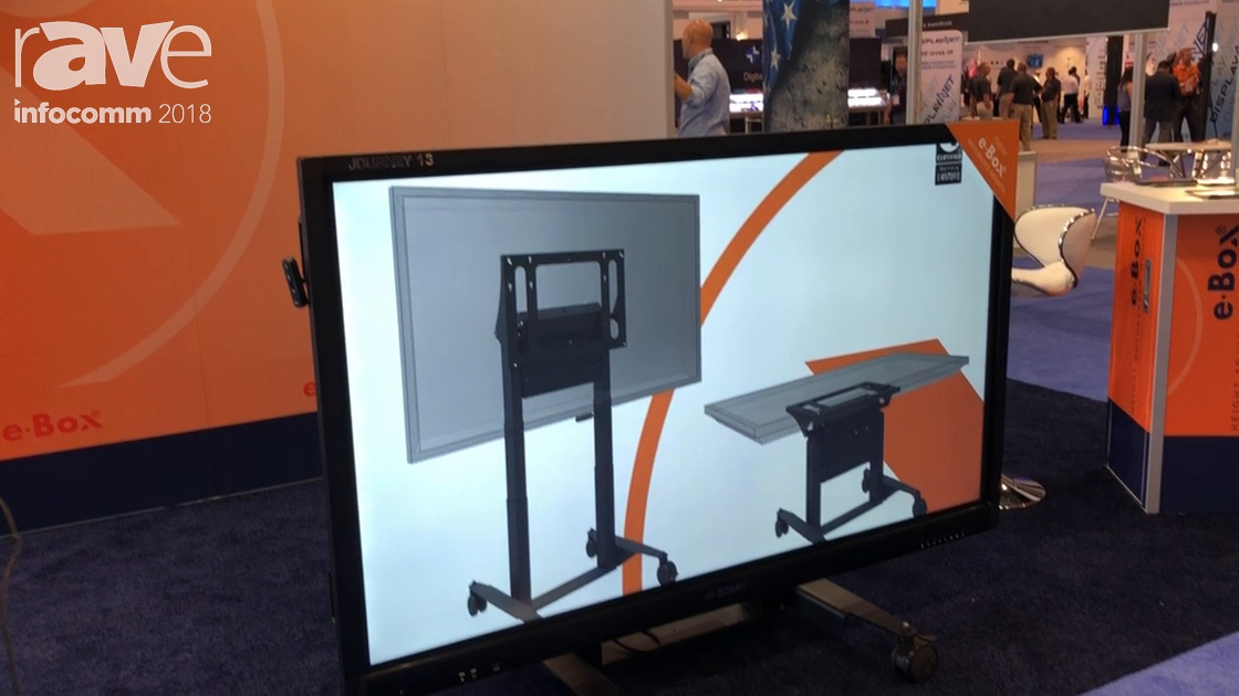 InfoComm 2018: e-Box Discusses Tilt & Table Height Adjustable Mount