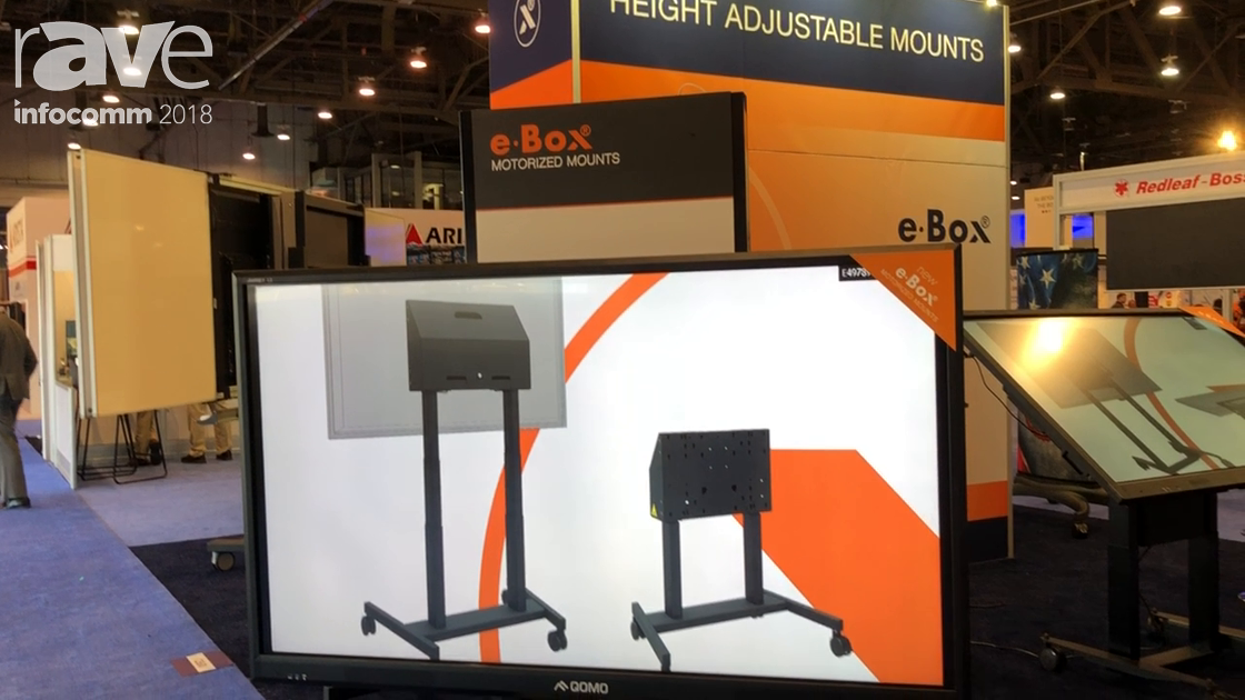 InfoComm 2018: e-Box Presents Wall Mounting Solution for Interactive Displays