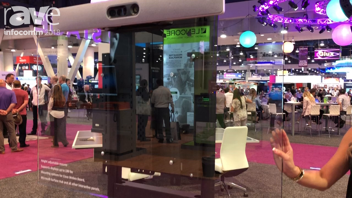 InfoComm 2018: AVTEQ Highlights Its DynamiQ RPS-500 Manual Height Adjustable Mount
