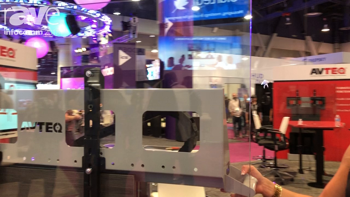 InfoComm 2018: AVTEQ Shows DynamiQ Height Adjustable Cart for Single or Dual Displays Up to 300 Lbs