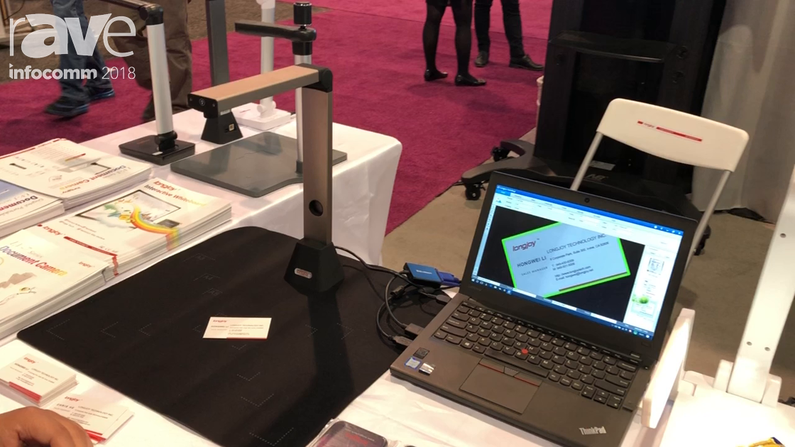 InfoComm 2018: Lonjoy Technology Showcases the 8-megapixel LV3800 Document Camera