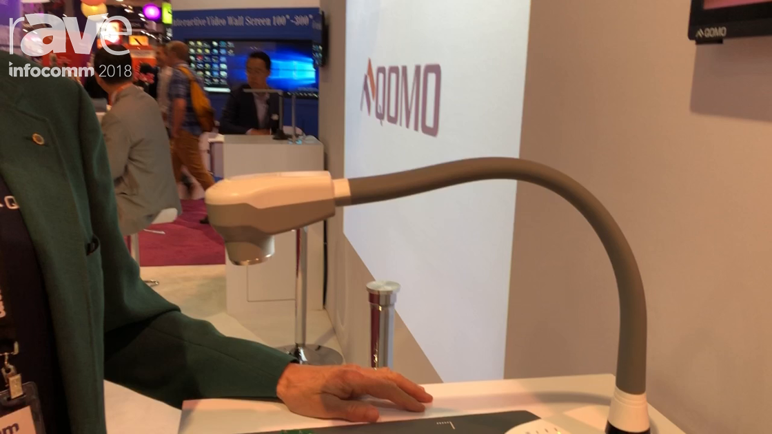 InfoComm 2018: Qomo Showcases QPC80 Document Camera With a Built-In Recorder