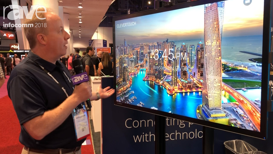 InfoComm 2018: Clevertouch Presents Capacitive Touch Pro Model 4K Ultra HD Touch Display