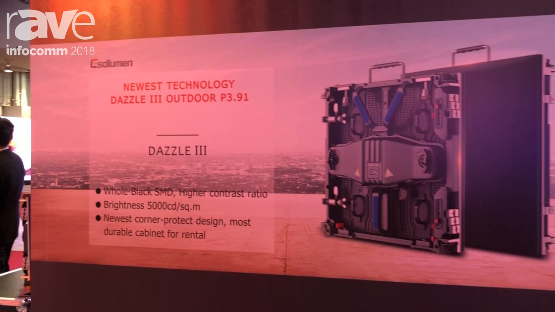 InfoComm 2018: Shenzhen Lsdlumen Dazzle III Outdoor P3.91 LED Cabinet with Corner-Protect Design