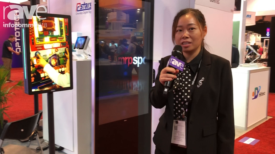 InfoComm 2018: Shenzhen Rcstars Technology Shows RCS-550 LBPC Free Standing Digital Signage Kiosk