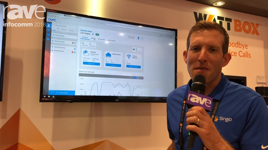 InfoComm 2018: SnapAV Demos OVRC Cloud Management Platform