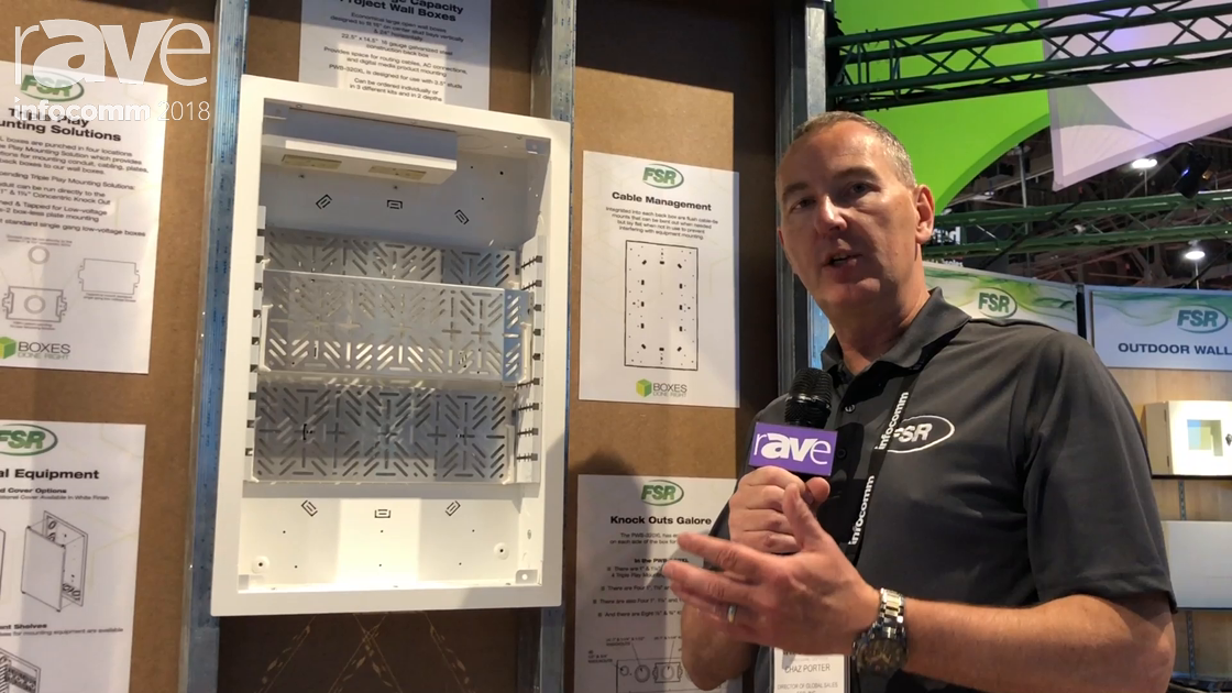 InfoComm 2018: FSR Debuts PWB-320XL Project Wall Box for AV and IT Applications