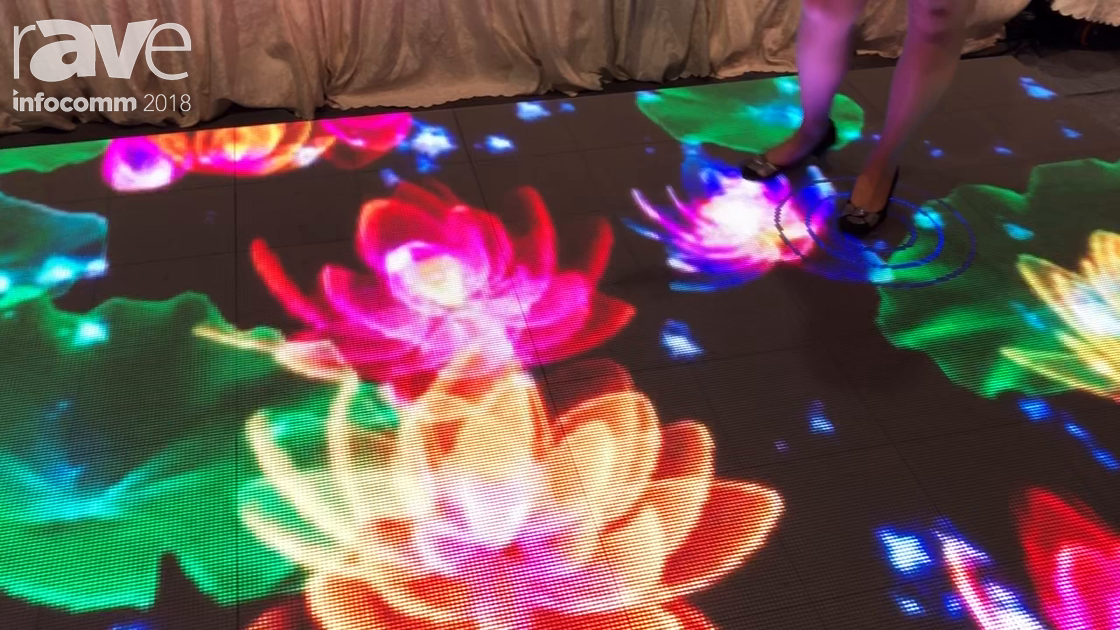 InfoComm 2018: LYAN Technology Shows Off Interactive LED Dance Floor for Entertainment