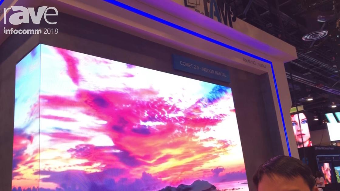 InfoComm 2018: Shenzhen LAMP Display Intros Comet 2.9 Indoor Rental LED