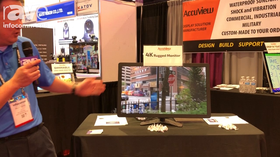 InfoComm 2018: Accuview 4K Presents Ruggedized Monitor That's Vibration and Shock Proof