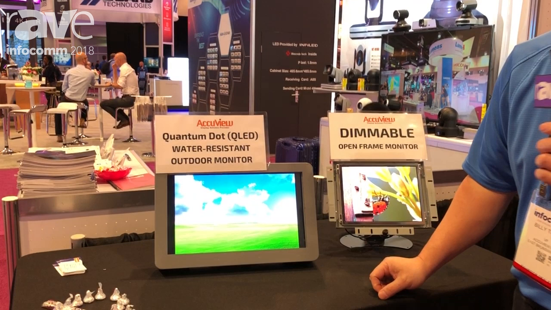 InfoComm 2018: Accuview Highlights Quantum Dot (OLED) Water-Resistant Outdoor Monitor