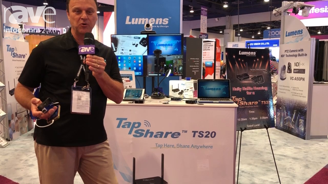 InfoComm 2018: Lumens Integration Talks About TapShare TS20 Wireless Presentation System