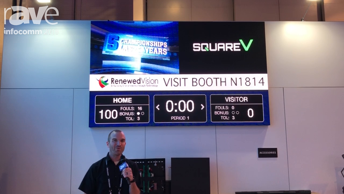 InfoComm 2018: SquareV Highlights 5mm LED Fixed Install SB5 Scoreboard