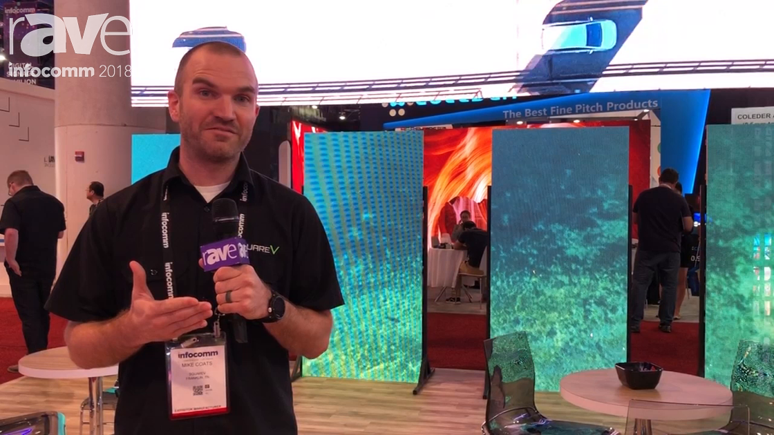 InfoComm 2018: SquareV Launched VC5w Curved LED Panel Built for 16:9 Configuration