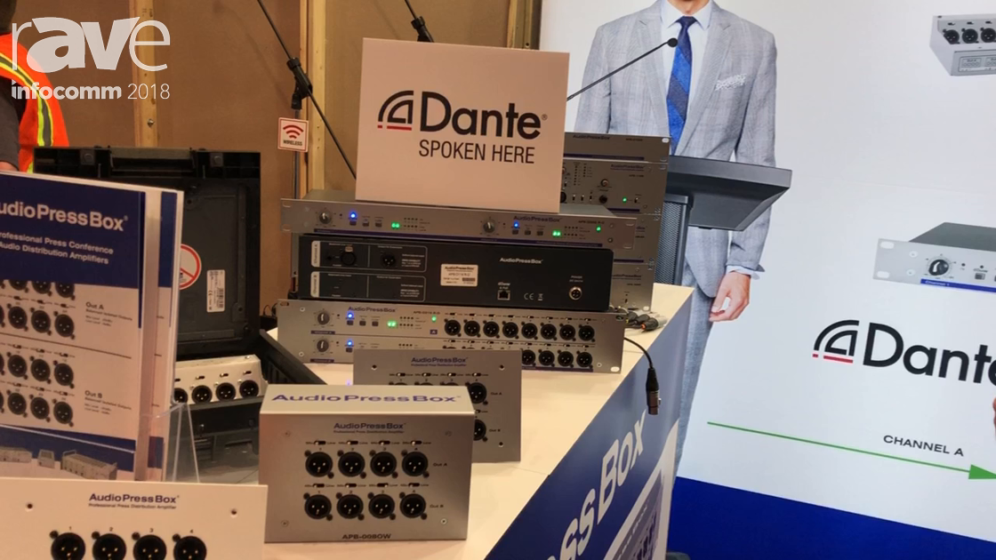 InfoComm 2018: AudioPressBox Introduces Dante Enabled Audio Press Distribution Amplifiers