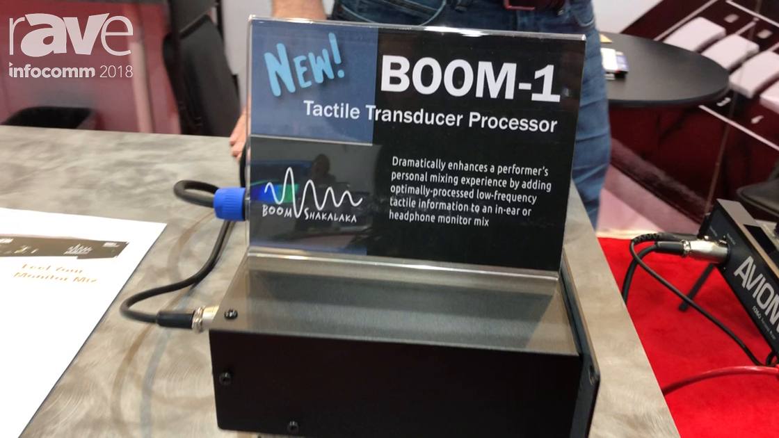 InfoComm 2018: Aviom Launches BOOM-1, a Tactile Transducer Processor