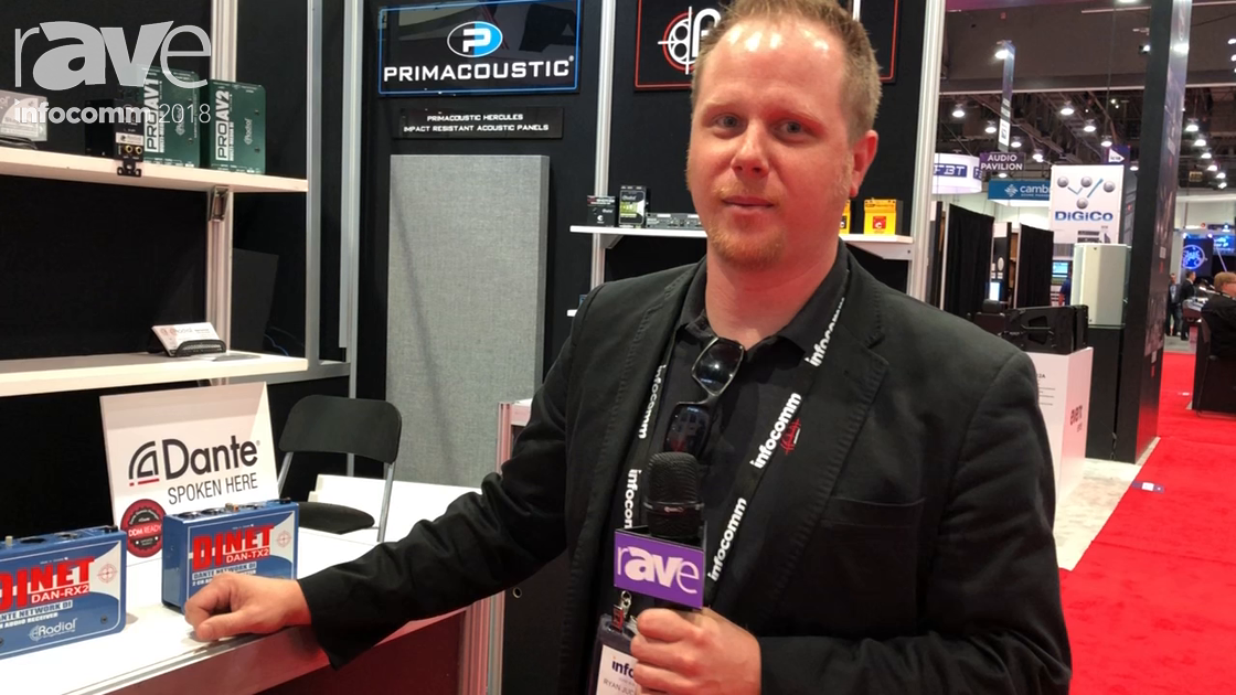 InfoComm 2018: Radial Engineering Shows DAN-RX2 and DAN-TX2 Audio Receiver and Transmitter