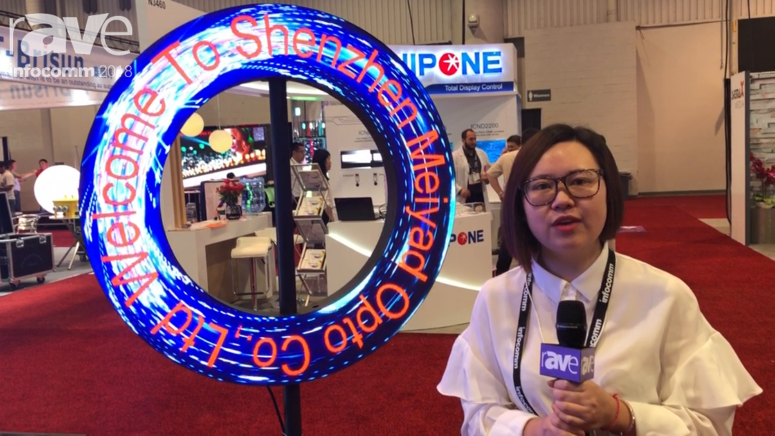 InfoComm 2018: Meyiad Features Custom Donut LED Screen With Flexible Pieces for Indoor Use