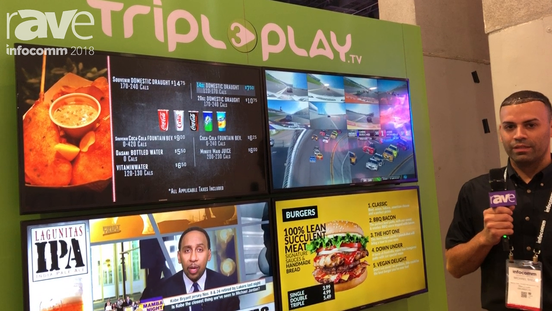 InfoComm 2018: Tripleplay Showcases Digital Signage Software for Menu Boards and Resturants