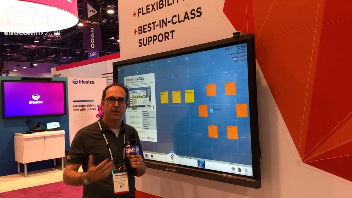 InfoComm 2018: T1V Explains ThinkHub Agile With Ability to Create Virtual Stickynotes
