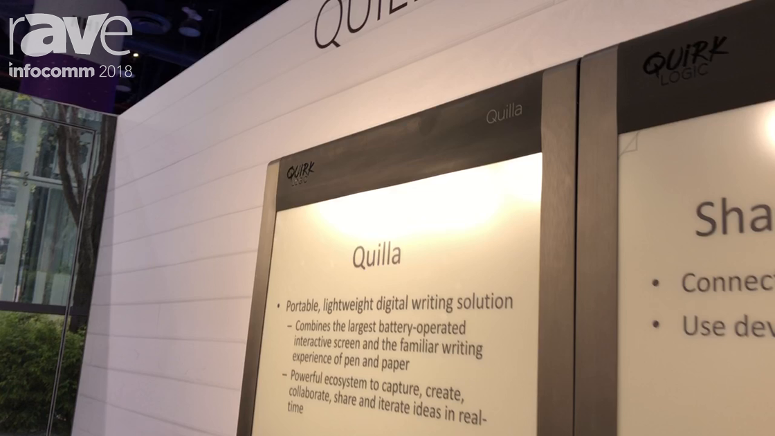 InfoComm 2018: QuirkLogic Demos Its Battery-Powered Quilla Interactive Surface Display