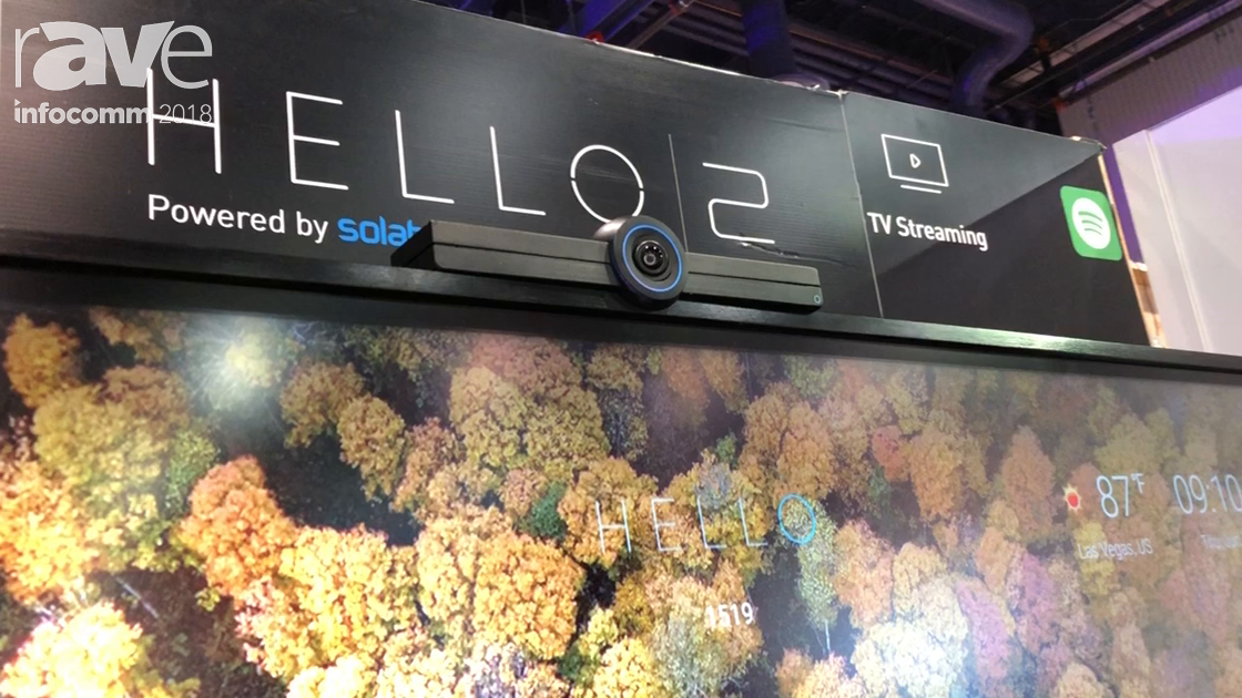 InfoComm 2018: Solaborate Features Its HELLO 2 Second Generation Collaboration Platform
