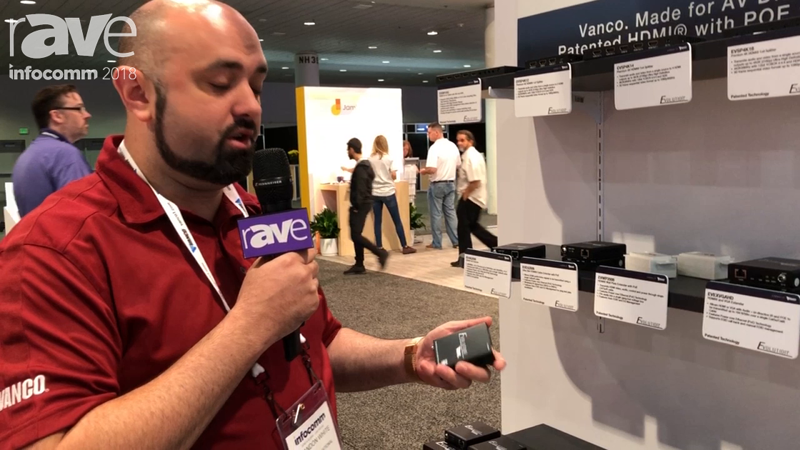 InfoComm 2018: Evolution Shows EV4K 2006 4K Extender Over Cat5 With POE
