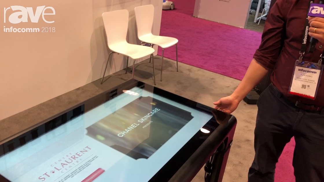 InfoComm 2018: Zoom Digital Signage Features Modular PCAP Touch Table Made from Anodized Aluminum
