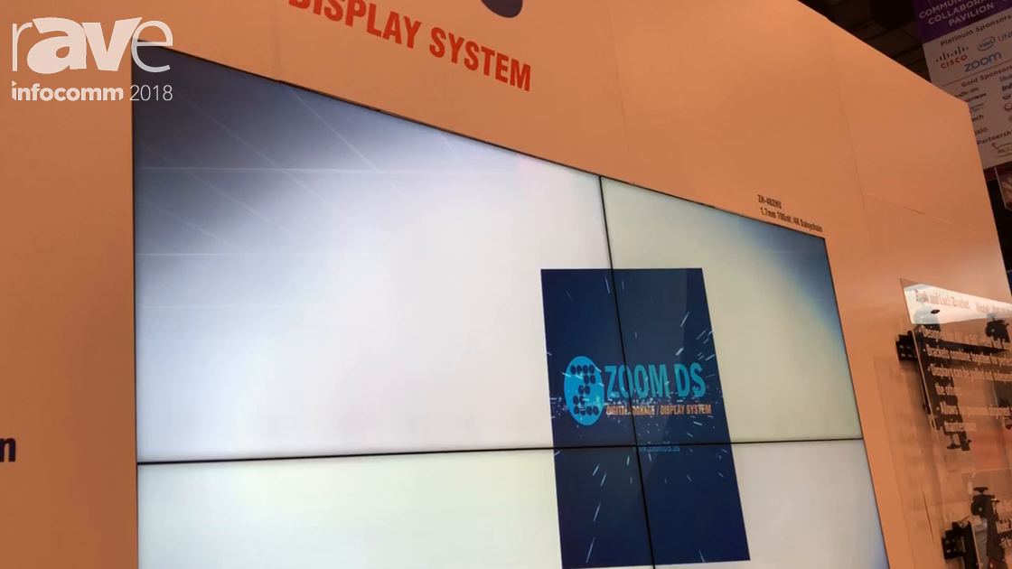 InfoComm 2018: Zoom Digital Signage Shows Off Its 4K Thin Bezel 46-Inch Video Wall Displays